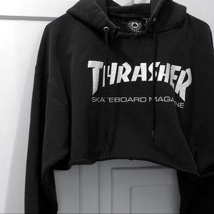 Thrasher Skateboarding Cropped Hoodie 🧥